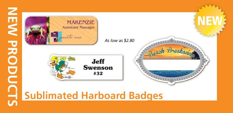 Sublimated Badges