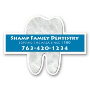 "Full Color Magnet (2.125""x3"") Tooth Shape"