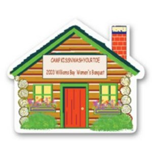 "Full Color Magnet (2.125x2.5"") House Shape"