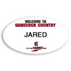 "Laminated Personalized Name Badge (1.625""x2.875"") Oval"