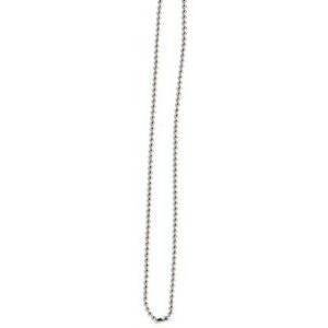 "Silver Metal Ball Chain Badge Fastener (30"")"