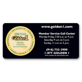 "Static Cling Decal (1.75""x3.75"") Rectangle"