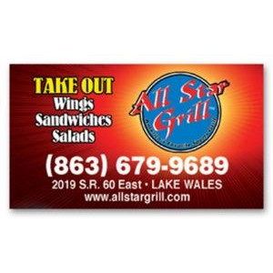 "Full Color Magnet (2""x3.5"") Business Card Square Corners"