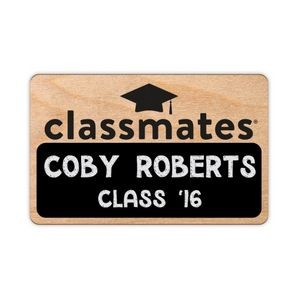 Customized Wood Blackboard Badges (6-10 Sq. Inches)